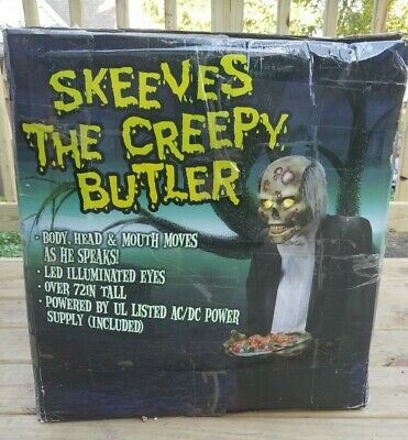 Life Size Halloween Butler (SEE VIDEO!!! Skeeves the Creepy Butler Jeeves Animated Halloween Life Size)