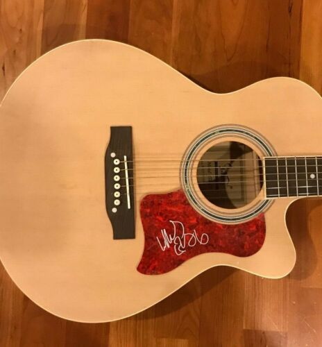 * MAX COLLINS * signed autographed acoustic guitar * EVE 6 BAND * 1