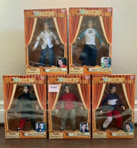 NSYNC Marionette Dolls Vintage Set (5) *NEW SEALED* No Strings Attached 2000