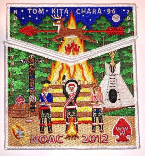 Tom Kita Chara Lodge # 96 White Border 2 piece OA Flap Set NOAC 2012 MINT!