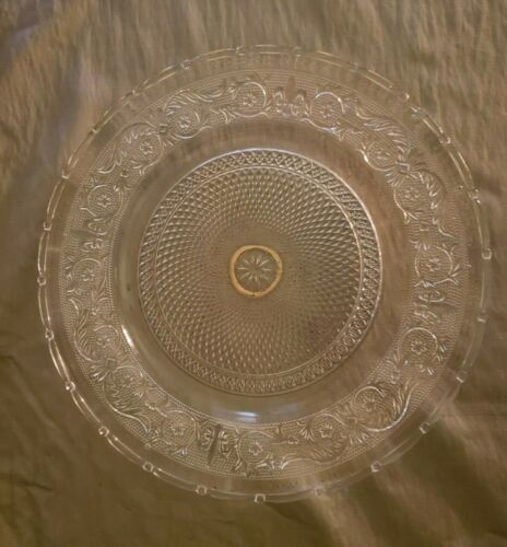 Depression glass Serving Platter Lace pattern by Duncan Miller 12""
