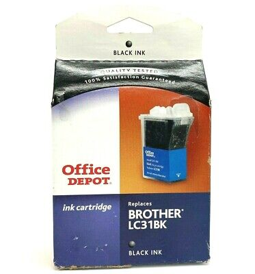 NEW!! Office Depot Brother Black LC41BK Remanufactured Inkjet Cartridge LOT OF -