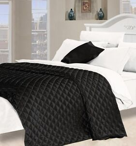 LUXURIOUS FAUX SILK BEDSPREAD AVAILABLE IN DOUBLE OR KING