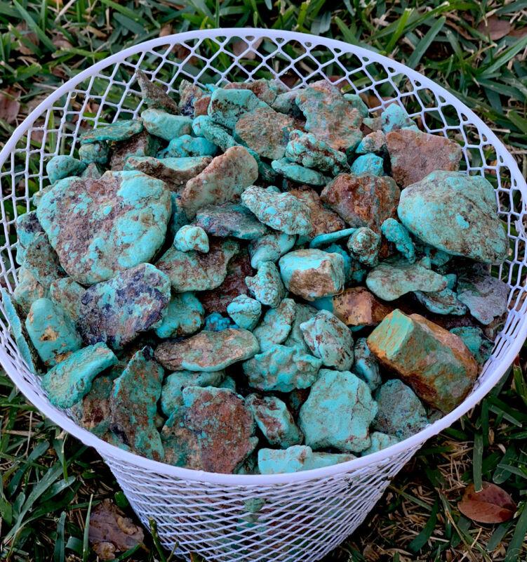 1/4 Pound Kingman Arizona Turquoise Natural Rough Gem Lot Cutting Lapidary