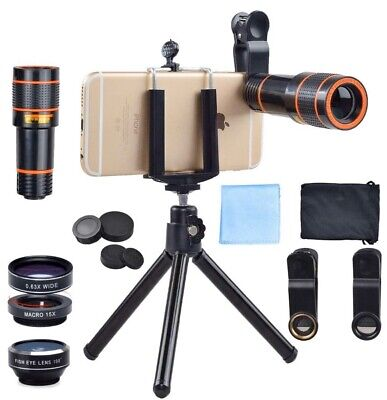 All in1  HD 12x Camera Lens for iPhone, Samsung, LG Android, iPad, ZTE Note Pads