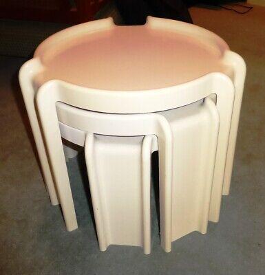 Vintage Kartell 'Binasco' Retro Nest Of Tables