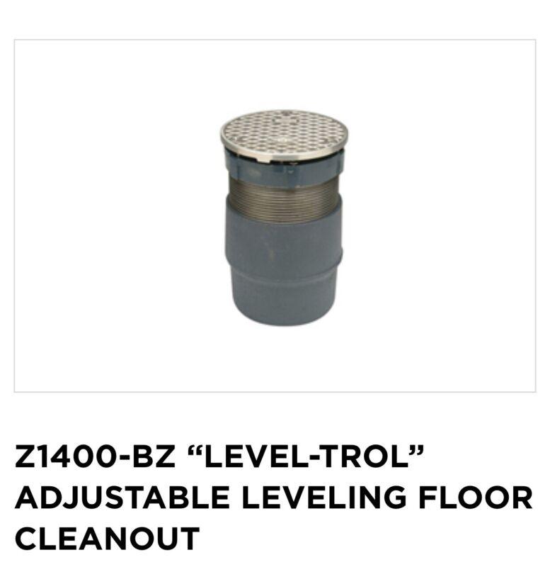 "Z1400-BZ ""LEVEL-TROL"" ADJUSTABLE LEVELING FLOOR CLEANOUT New"