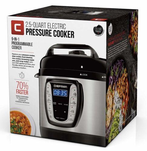 9-IN-1 MULTI-USE: The Chefman 2.5 Qt Electric Pressure & Mul