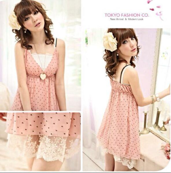 Brand New Mayuki Tunic Pink Dress With Hearts
