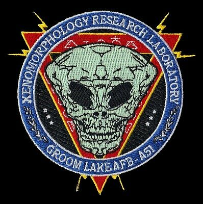 XENOMORPHOLOGY RESEARCH LABORATORY GROOM LAKE AFB AREA 51 PATCH