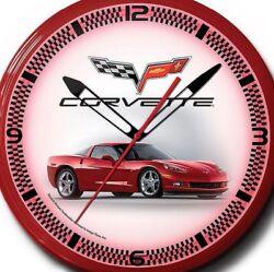 Chevrolet Corvette C6 Car Wall Clock Pair Retro Neon 20 Inch Hand Made USA