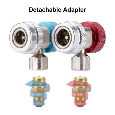 Car Air Con Connector R134A Lo/Hi Fits A/C Manifold Gauge Adapter Coupler Set
