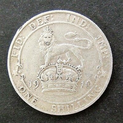1910 EDWARD VII SILVER SHILLING, collectable.            SC141/13