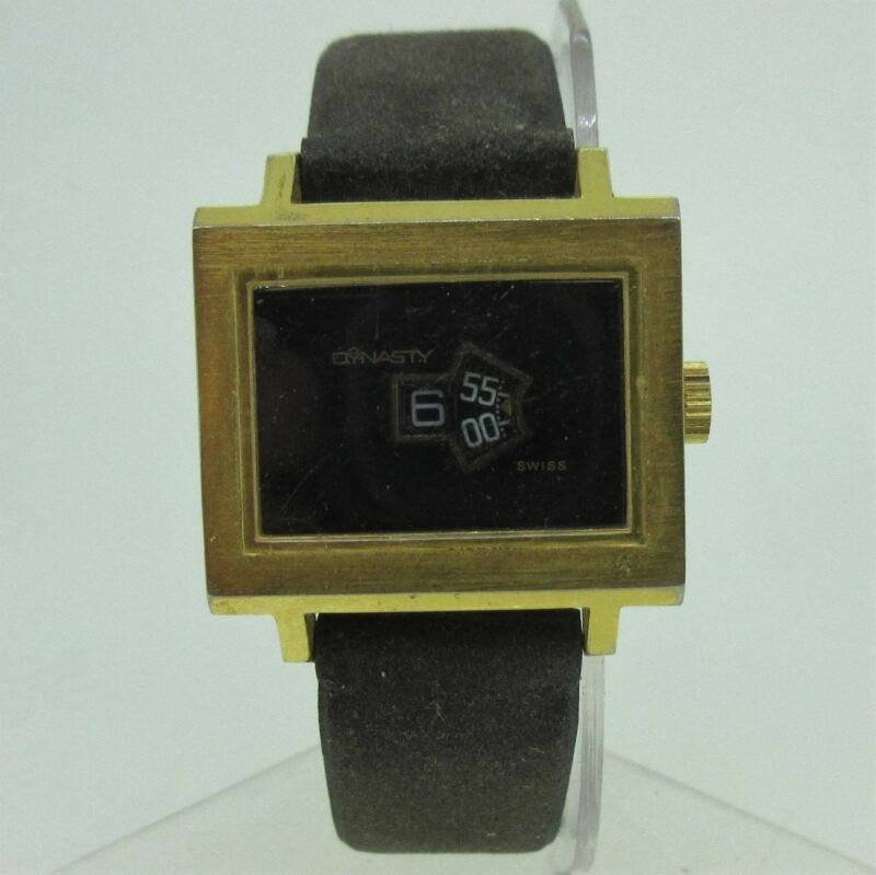 Vintage Dynasty Endura Time Corp. Swiss 1J Gold Tone Watch Parts