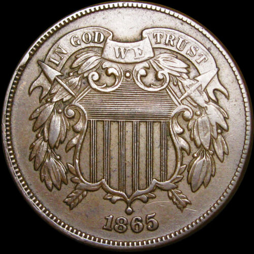 1865 Two Cent Piece 2cp -- NICE TYPE COIN -- #B679