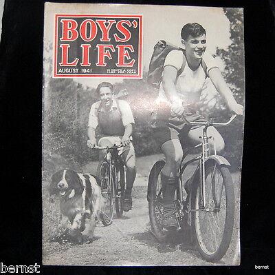 VINTAGE BOY SCOUT- 1941 BOYS' LIFE - AUGUST