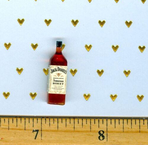 Dollhouse Miniature Size Honey Whiskey Bottle