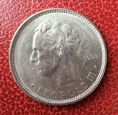 Belgique - Léopold III -Très Jolie monnaie de 5 Francs 1936 Fr pos.B