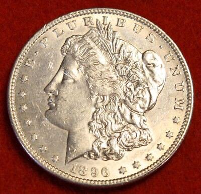 1896 P  1 Morgan Dollar Bu 90  Silver Liberty Collector Coin Chk Out Store Mg297