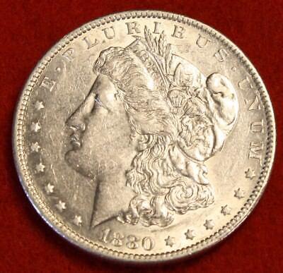 1880 O  1 Morgan Dollar Bu 90  Silver Liberty Collector Coin Chk Out Store Mg290