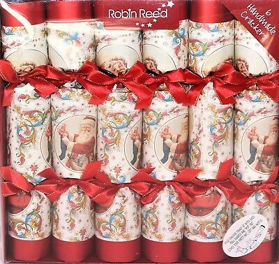 Robin Reed H8 Christmas Holiday 6pc 12in Themed Crackers - Victorian Santa 61720 ()