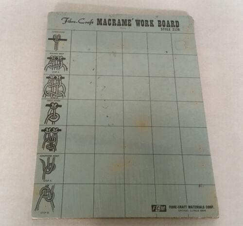 vintage fibre craft macrame work board style 2170 knot making holder board