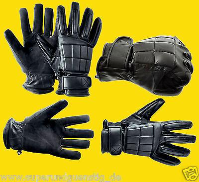 COP Polizei Security Polster Leder Handschuhe Zugriffshandschuhe mit Protektoren ()