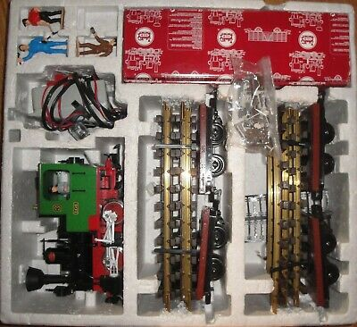 LGB 30th ANNIVERSARY TRAIN SET #73968 STARTER SET ONLY SET UP AT CHRISTMAS