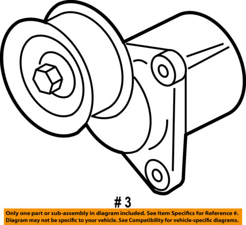 Ford Oem Serpentine Fan Belt Tensioner 6e5z6a228b