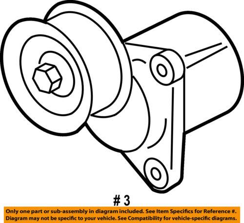 Ford Oem Serpentine Fan Belt Tensioner 6e5z6a228b