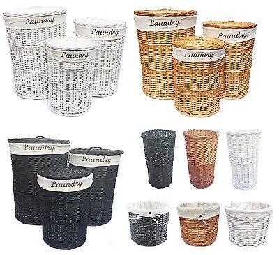 marrone bianco rovere miele nero vimini rotondo cesto per biancheria cestino da bagno portarotolo