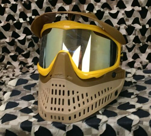 NEW JT Pro-Flex Thermal Paintball Mask - Brown/Tan/Gold
