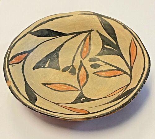 Very Early Santo Domingo Pueblo Polychrome Pottery Dish ca. 1900