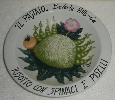 Piero GILARDI Limited Edition IL PASTAIO BOWL Beverly Hills Buon Ricordo America