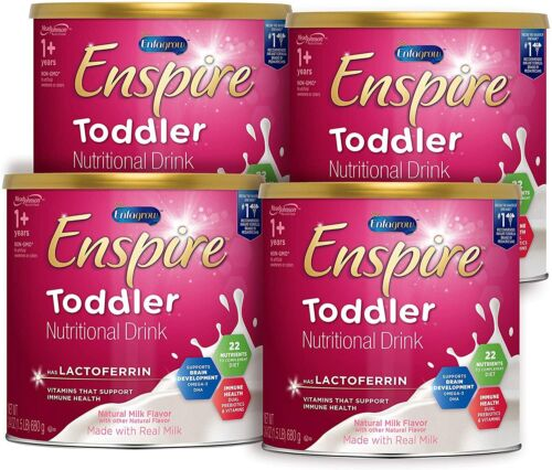 Enfagrow Enspire Toddler Drink--LACTOFERRIN FOR IMMUNE SUPPORT 24OZ 4PK EXP08/22