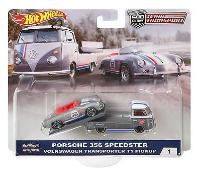 2018 Hot Wheels Car Culture Team Transport Porsche & VW T1 Transporter Pickup