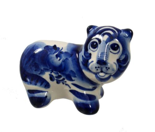 TIGER porcelain figurine #0270bl - the Symbol of the Year 2022