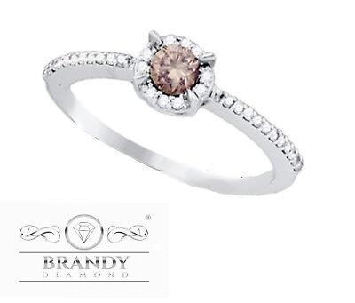 Brandy Diamond® Beautiful Chocolate Brown 10K White Gold Pr