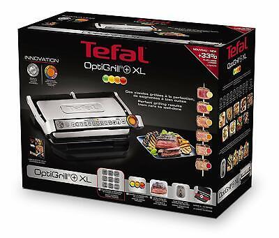 Tefal Optigrill + XL Parilla Eléctrica, 2000 W, Grill 9 programas de...