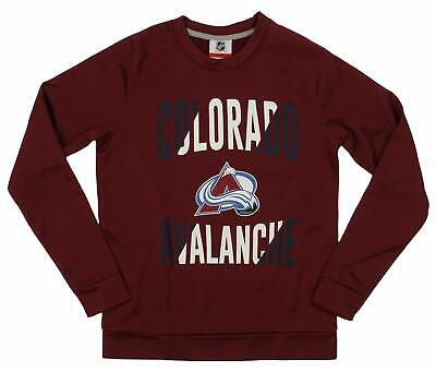 Colorado Avalanche Youth Fleece - Outerstuff NHL Youth/Kids Colorado Avalanche Performance Fleece Sweatshirt