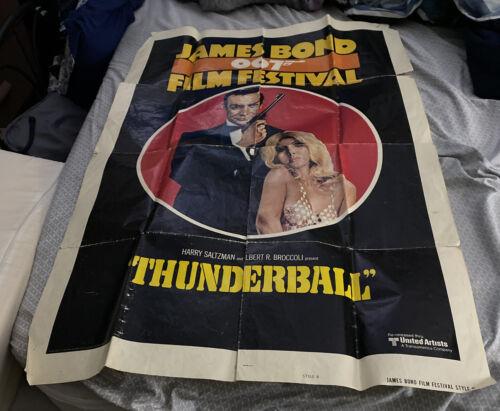 JAMES BOND 007 FILM FESTIVAL Style B 1sh 75 Sean Connery/ THUNDERBALL - $24.99