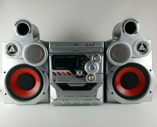 JVC MX-GT700 Giga Tube 3 CD Dual Cassette Compact Stereo Boom Box Clean Sound