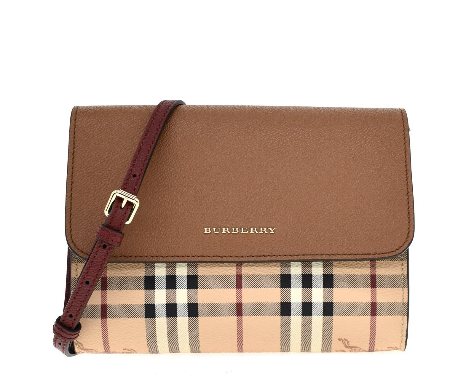 Burberry Loxley Heymarket Crossbody Bag Clutch New
