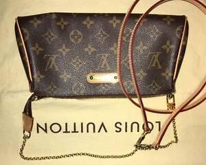 Louis Vuitton Eva Monogram Clutch Authentic