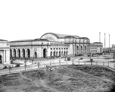UNION STATION IN WASHINGTON, D.C., CIRCA 1914 - 8X10 PHOTO (AA-841)