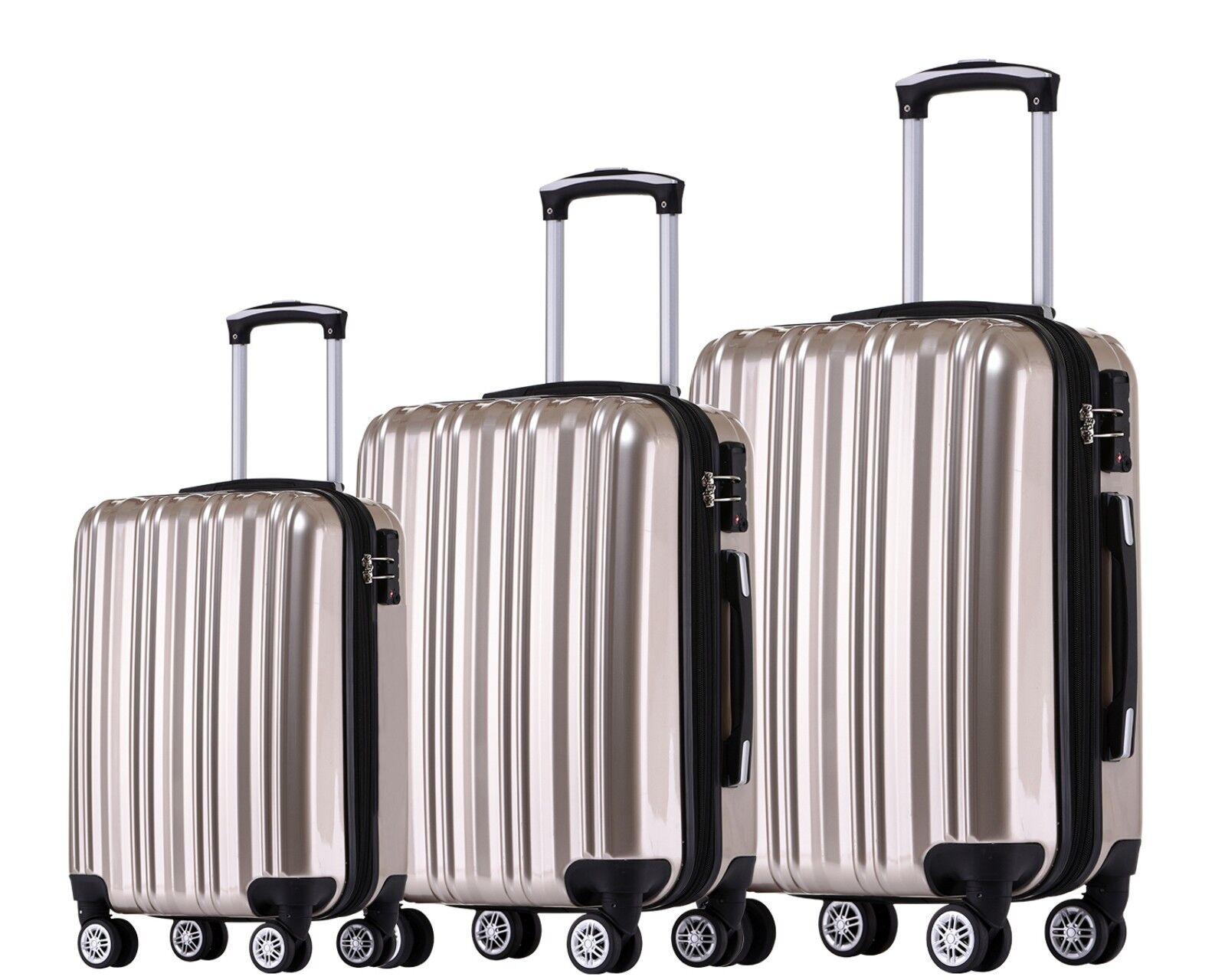 Muenicase 006 TSA Schloß Kofferset Koffer Reisekoffer Trolley Set/XL/L/M