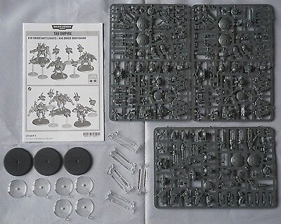 Warhammer 40k Tau Empire 3 XV8 Crisis Battlesuits & 6 Drones Battlesuit