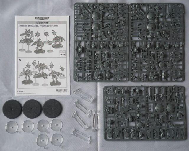 Warhammer 40k Tau Empire 3 XV8 Crisis Battlesuits & 6 Drones (9 Models)