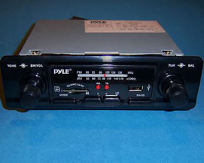 NEW MODERN SHAFT STYLE PYLE AM/FM RADIO USB SD/MMC MP3 JEEP MOPAR MODELS 60s 90s