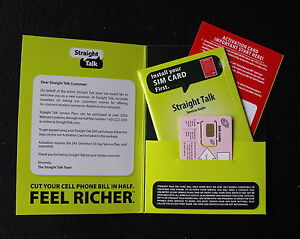 New Straight Talk SIM Card Activation Kit for T-Mobile Compatible & Unlocked GSM